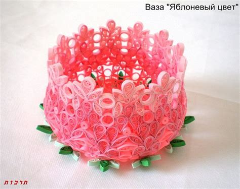 paper quilling vase quot apple blossom quot by tarbut2 via flickr