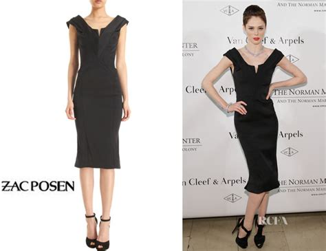 Who Wore Zac Posen Better Natalie Cole Or Dion by Coco Rocha S Zac Posen Plunging V Neck Cocktail Dress