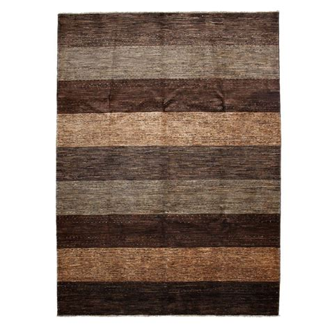 8 Ft Rug by Darya Rugs Modern Brown 6 Ft 7 In X 8 Ft 10 In Indoor