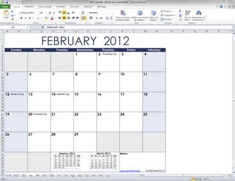 Calendrier 2011 Excel Mod 232 Le De Calendrier Mensuel Excel T 233 L 233 Charger
