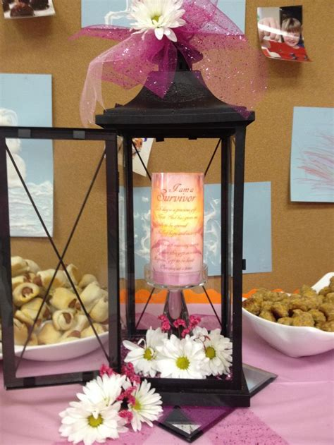 breast cancer survivor table centerpiece table