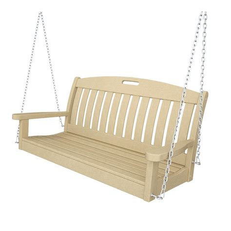 canopy swings home depot leisure season wooden patio swing seater with canopy