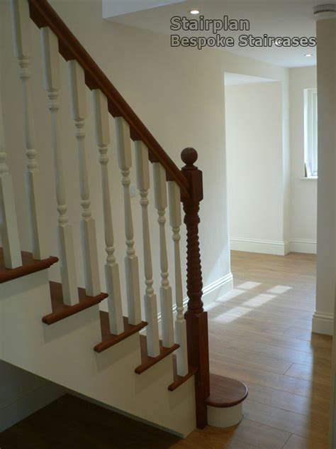 stair cases bespoke cut string staircase white with hardwood treads