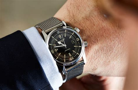longines dive longines legend diver now on mesh on review