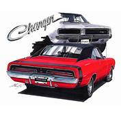 Maddmax Muscle Car Art  1969 Dodge Charger
