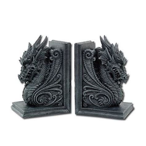 dragon bookends medieval dragon bookends set