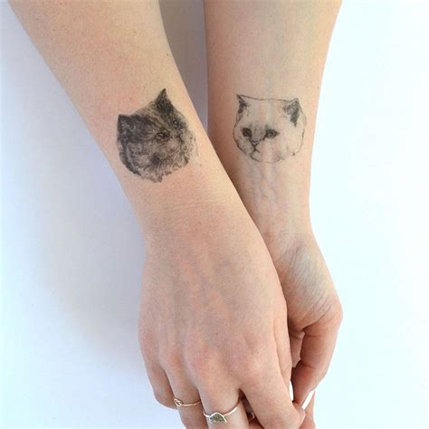 temporary tattoo photo cat temporary tattoos by hello harriet