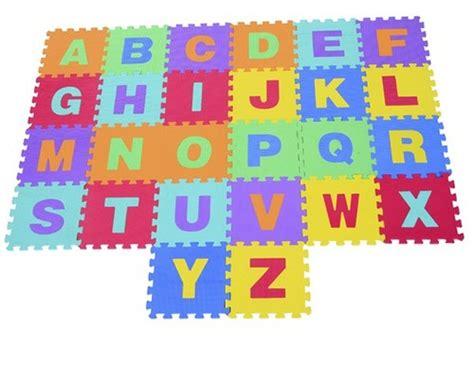 alfombra de actividades puzzle abecedario goma eva aosom  anos alfombras actividades