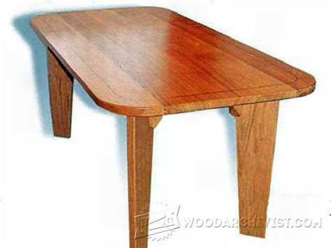 oak dining table plans woodarchivist