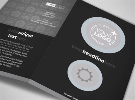 blank bi fold card template blank bi fold brochure template 10983lb