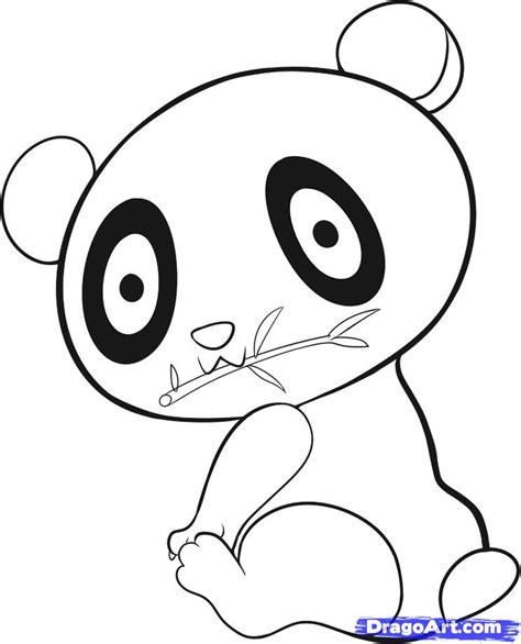 How To Draw An Easy Panda Step By Step Rainforest Animals Animals Free Online Drawing Easy Animals To Draw