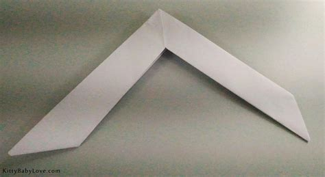 How To Make Origami Boomerang - origami tutorial how to make a paper boomerang
