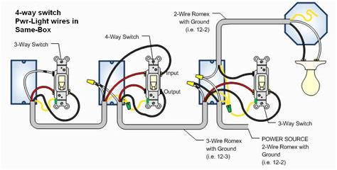 4 way switch wiring diagram readingrat net with for