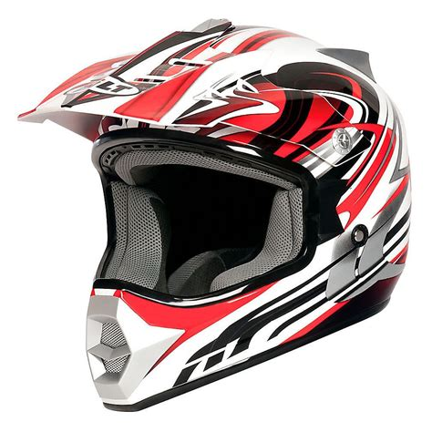 motocross helmets youth bilt redemption motocross helmet youth white red med ebay