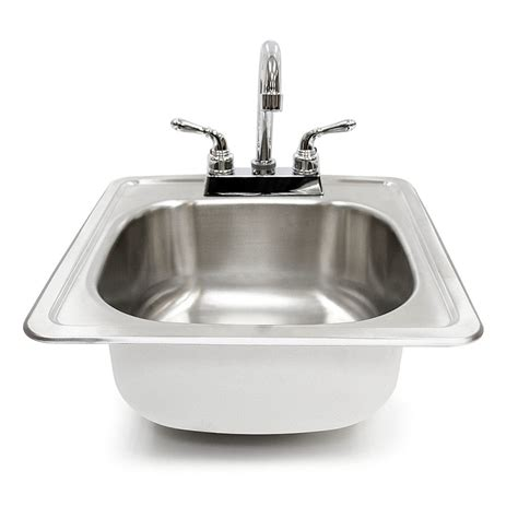 outdoor kitchen sinks and faucets summerset 15 inch sink and faucet