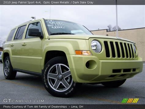 dark green jeep patriot optic green metallic 2010 jeep patriot sport 4x4 dark