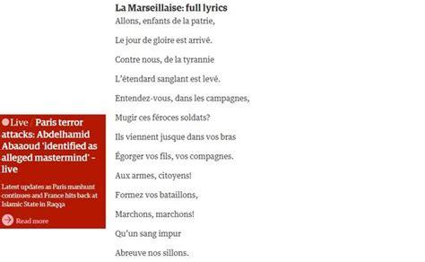 marsigliese testo la marsigliese cantata da tutto lo stadio cos 236 wembley