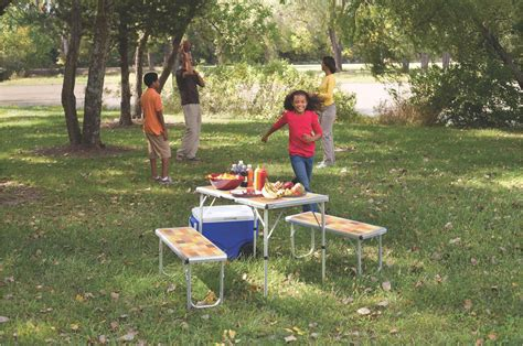 coleman pack away outdoor 4 in 1 coleman pack away 174 outdoor picnic set for 4 beach