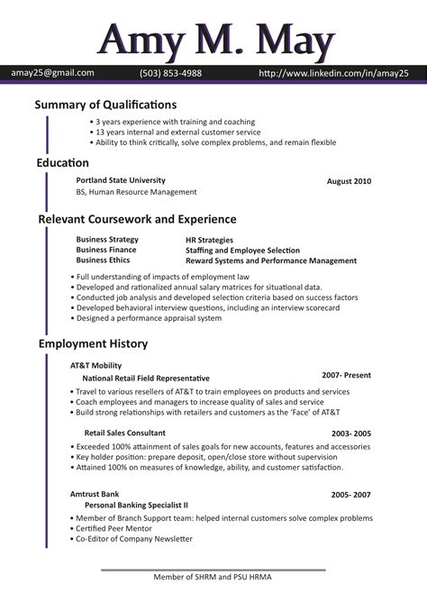bilingual resume template