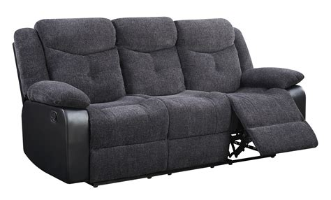 Black Fabric Reclining Sofa Black Fabric Reclining Sofa Ultimate Reclining Sofa In Seal Fabric By Catner 19445 S Thesofa