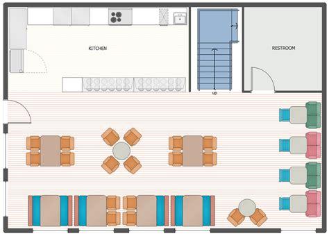 cafe  restaurant floor plan solution conceptdrawcom