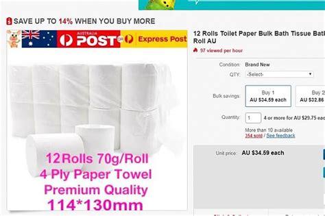australian shopper hoards    rolls  toilet paper  coronavirus pandemic