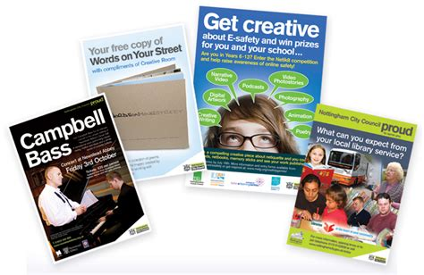 flyer design nottingham andrew burdett design public sector leaflet design company