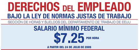 salario legal 2011 salario minimo federal usa tu asesora legal