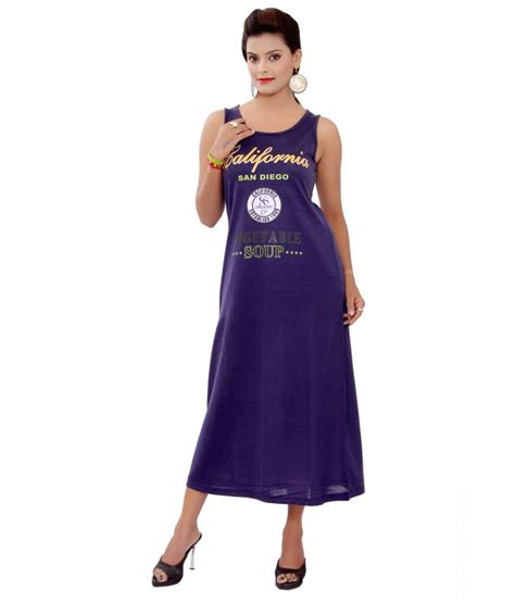 buy sml blue solid cotton dress at best prices in india snapdeal