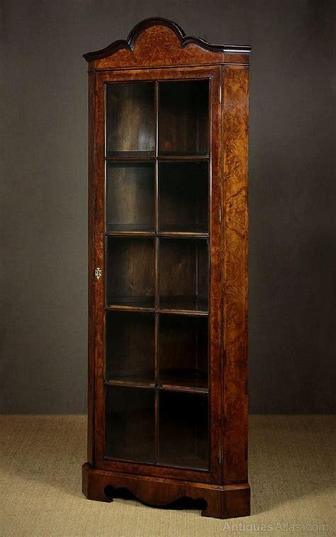 Burr Walnut Corner Display Cabinet C.1920.   Antiques Atlas