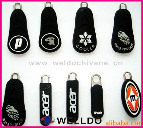 Zipper Logo rubber custom zipper pulls logo buy zipper pulls logo
