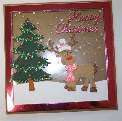 Handmade Reindeer Cards - handmade card reindeer cottage cutz for
