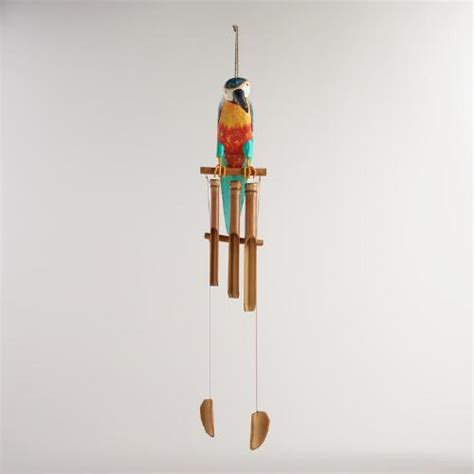 Eco Bamboo Wind Chime Hippyshopper by Bamboo Parrot Wind Chime World Market
