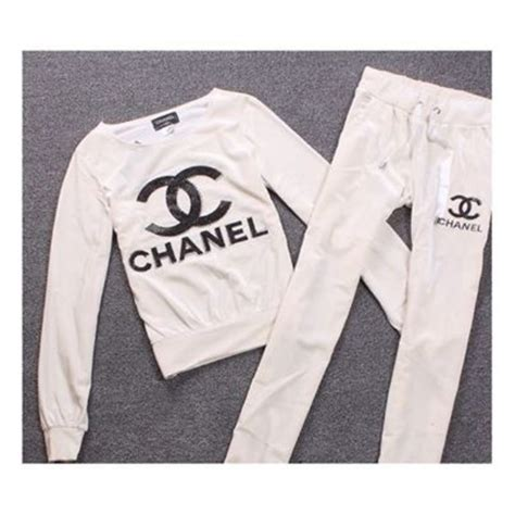 Dress Scuba Chanel Perfume logo sweatshirt in white and gray replica by
