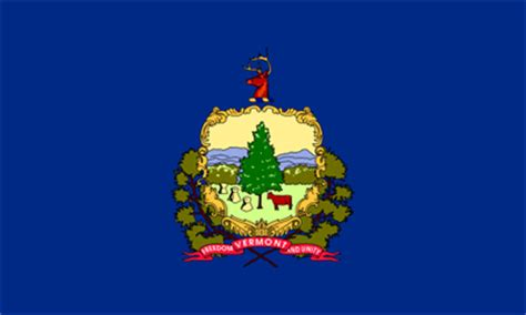 vermont flag and description and vermont seal