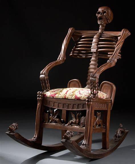 Creepy Furniture by 246 Furniture Skeleton Rocking Chair Lot 246