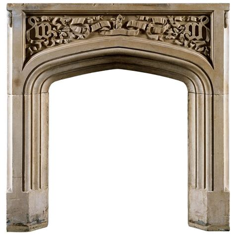 carved fireplace mantels antique carved portland fireplace mantel at 1stdibs