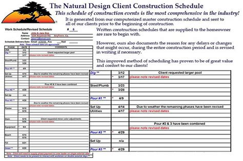 Pools By Design swimming pool construction schedules that make building a