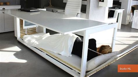 Napping Desk | convertible napping desk helps you sleep on the job youtube