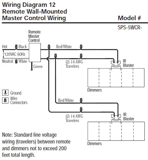 lutron sps 5wcr wh spacer system remote wall mounted 11