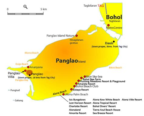 dumaluan resort map travelling guides resorts in panglao