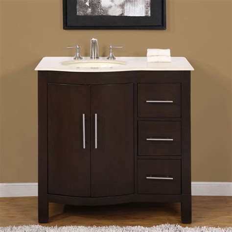 Overstock Bathroom Vanities Cabinets Silkroad Exclusive Countertop Bathroom Single Sink Cabinet Lavatory 36 Inch
