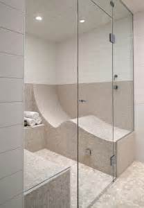kohler steam shower bathroom contemporary with seat subway