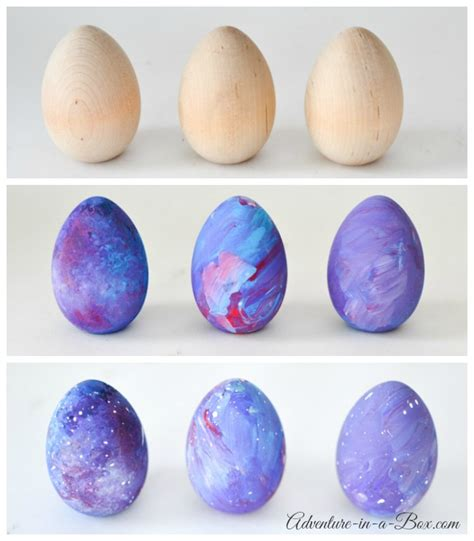 easy easter craft painting eggs space eggs easter craft for adventure in a box