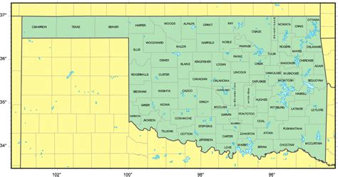 map of oklahoma counties map of oklahoma cities oklahoma road map reference map of oklahoma usa nations project