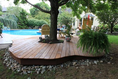 backyard ground ideas triyae com backyard deck ideas ground level various