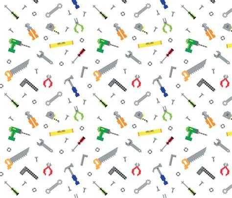 fabric pattern tools pixel game construction tools wallpaper vectorific
