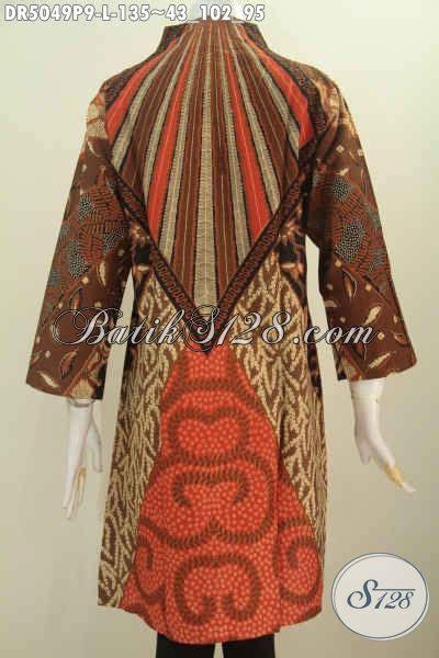desain dress online baju batik solo desain dress istimewa model kerah langsung