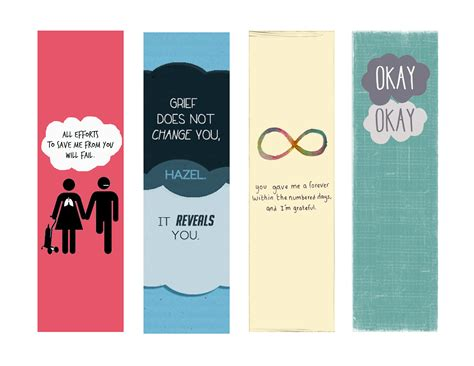 printable bookmarks with quotes pdf fault in our stars bookmarks google search fault in