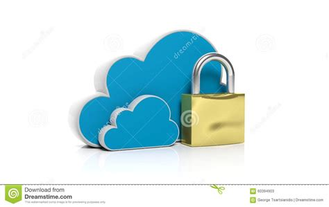 golden lock stock image image 12671151 cloud online storage icons with golden lock stock